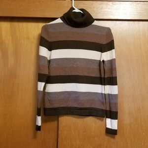 Patagonia Striped Merino Wool Turtleneck Sweater